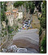 This Is A View Of Furore A Small Village Located On The Amalfi Coast In Italy  Acrylic Print