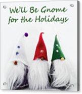 Three Holiday Gnomes 2a Acrylic Print