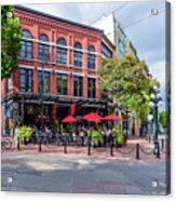 Outdoor Cafe In Gastown, Vancouver, British Columbia, Canada Acrylic Print