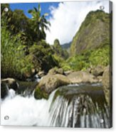 View Of Iao Needle Acrylic Print