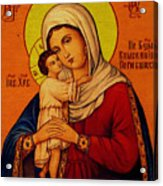 Virgin And Child Painting Religious Art Acrylic Print