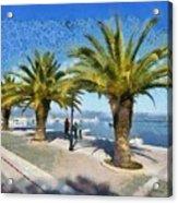 Walkway In Nafplio Town Acrylic Print