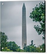 Washington Mall Monumet On A Cloudy Day Acrylic Print