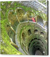 Woman Tourist In Sintra Acrylic Print