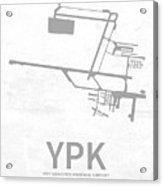 Ypk Pitt Meadows Regional Airport In Pitt Meadows Canada Runway  Acrylic Print