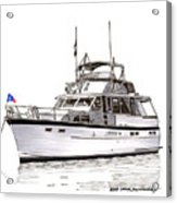 50 Foot Hatteras Motoryacht Acrylic Print