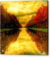 Painters Landscape Acrylic Print