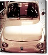 500 Fiat Toned Sepia Acrylic Print by Stefano Senise