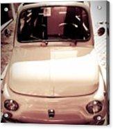500 Fiat Toned Sepia Acrylic Print