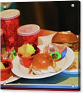 50's Style Food Malt Hamburger Tray  Acrylic Print