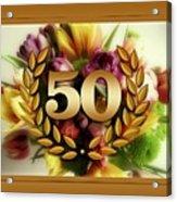 50th Anniversary Acrylic Print