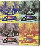 Old Beetle-pop Art Acrylic Print