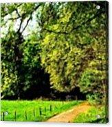 Oil Landscape Art Acrylic Print