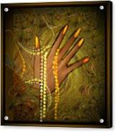 544   Gold Fingers  2017 V Acrylic Print