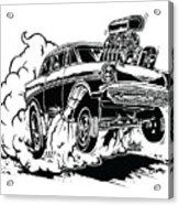 '57 Gasser Cartoon Acrylic Print