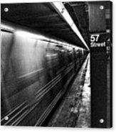 57th Street Platform Acrylic Print by Barry C Donovan