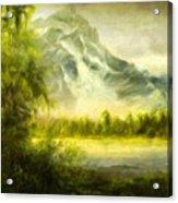 Landscape Nature Drawing Acrylic Print