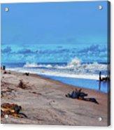 58- Sapphire Surf Acrylic Print