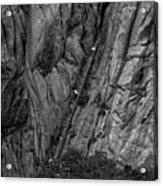 5840- Yellow Mountains Black And White Acrylic Print