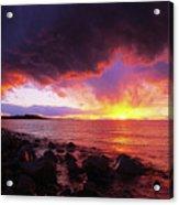 Antelope Island Sunset Acrylic Print