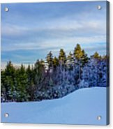 Beautiful Winter Landscape At Timberline West Virginia Acrylic Print