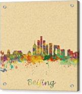 Beijing China Skyline Acrylic Print