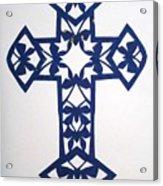 Blue Butterfly-cross Acrylic Print