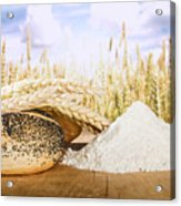 Bread And Wheat Cereal Crops Acrylic Print