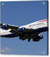 British Airways Boeing 747 Acrylic Print