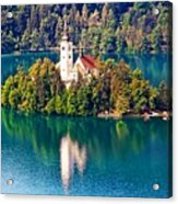Church Of The Assumption - Lake Bled, Slovenia Acrylic Print