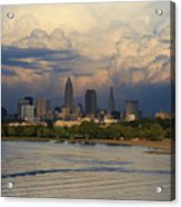 Cleveland Skyline From A Distant Park Acrylic Print