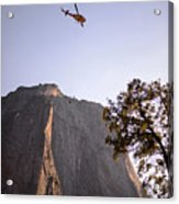 Climber Rescue Operation In Yosemite Acrylic Print