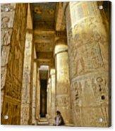 Colonnade In An Egyptian Temple Acrylic Print