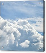 Dramatic Cumulus Clouds With High Level Cirrocumulus Clouds For  Acrylic Print