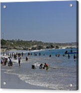 Enjoying A Day At The Beach Acrylic Print
