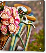 Flower Bike Collection Acrylic Print