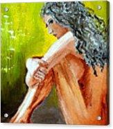 Girl Nude Acrylic Print