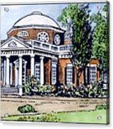Jefferson: Monticello Acrylic Print