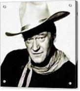 John Wayne, Vintage Actor By Js Acrylic Print
