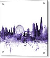 London England Skyline Acrylic Print
