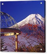 Mount Fuji In Autumn Acrylic Print