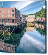 Old Historic Town Of Ketchikan Alaska Downtown Acrylic Print