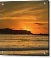 Orange Sunrise Seascape Acrylic Print