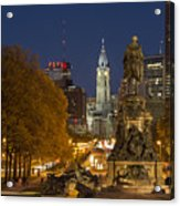 Philadelphia Skyline Acrylic Print by John Greim
