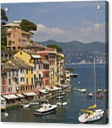 Portofino In The Italian Riviera In Liguria Italy Acrylic Print