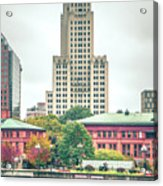 Providence Rhode Island City Skyline In October 2017 Acrylic Print