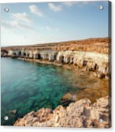 Sea Caves Ayia Napa - Cyprus Acrylic Print