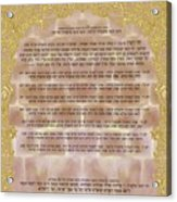 Sukkot-ushpizin Prayer- The Hosts... Acrylic Print