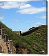 The Great Wall Of China Near Jinshanling Village, Beijing Acrylic Print