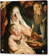 The Holy Family With Shepherds Acrylic Print